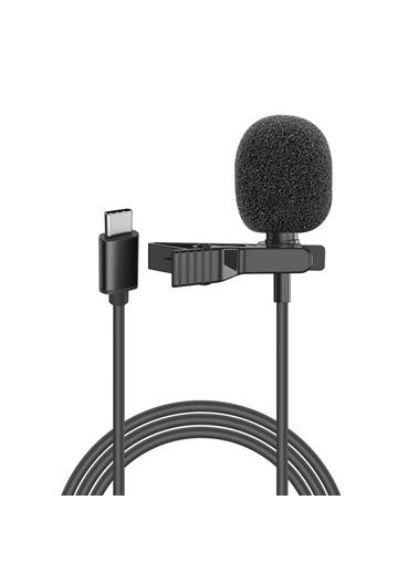 Snopy Sn-M40 Siyah Type-C Akıllı Telefon, Tik-Tok Ve Youtuber Yaka Mikrofonu Renkli